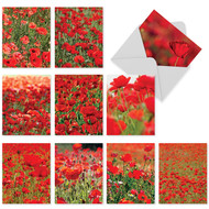 M3019 - Poppy Love: Mixed Set of 10 Cards
