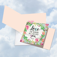 CQ5157VD - Love One Another: Square-Top Greeting Card