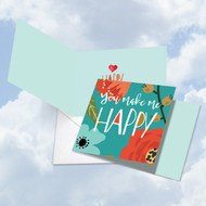 CQ6631JVD - Optimisms - Make Me Happy: Square-Top Greeting Card