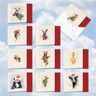 MQ2973XT - Wildlife Expressions: Square-Top Assorted Set of 10 Cards