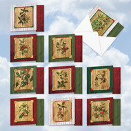 MQ5549XS - Happy Holly Dayz: Square-Top Assorted Set of 10 Cards