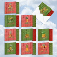 MQ4959XT - Holiday Harvest: Square-Top Assorted Set of 10 Cards