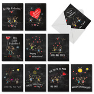 M5655VD - Chalkboard Love: Mixed Set of 10 Cards