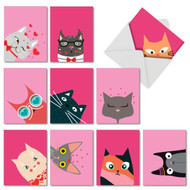 M5657VD - Kitties And Kisses: Mixed Set of 10 Cards