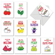 M5659VD - Yummy Puns: Mixed Set of 10 Cards