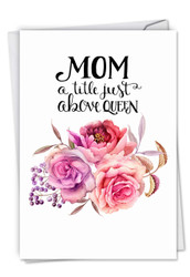 C4935BMG - Mom Title Above Queen: Printed Card