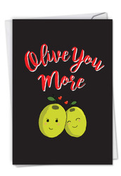 C5189VD - Olive You More: Printed Card