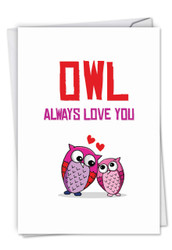 C5660BBD - Owl Love: Greeting Card