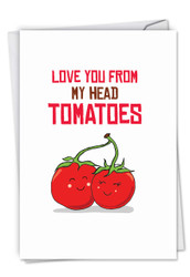 C5659ABD - Yummy Puns-Tomatoes: Note Card