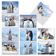 AM2951BD - Penguins and Greetings: Mini Mixed Set of 10 Cards