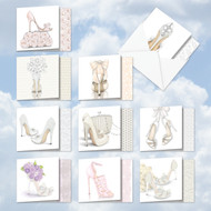 AMQ5052WY - Bride-itude with Gratitude: Mini Square-Top Mixed Set of 10 Cards