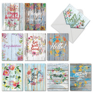 AM6108XX - Blooming Driftwood: Mini Assorted Set of 10 Cards