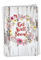 C6108IGW - Blooming Driftwood - Get Well: Note Card