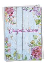 C6108JCG - Blooming Driftwood - Congratulations: Greeting Card