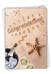 C6113CCG - Beach Notes - Congratulations: Paper Card