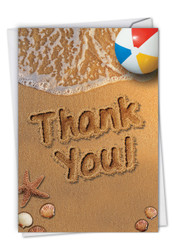 C6113GTY - Beach Notes - Thank You: Note Card