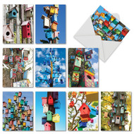 AM6114OC - Birdhouse Beautiful: Mini Assorted Set of 10 Cards