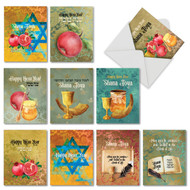 AM6135RH - Shana Tova Greetings: Mini Assorted Set of 10 Cards