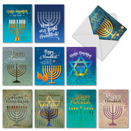 AM6140HK - Hanukkah Lights: Mini Assorted Set of 10 Cards