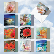 AMQ6129OC - Wall Flowers: Mini Square-Top Assorted Set of 10 Cards