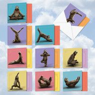 AMQ6255TY - Sloth Yoga: Mini Square-Top Assorted Set of 10 Cards