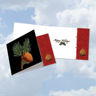 CQ6126FHH - Black Pine: Square-Top Paper Card