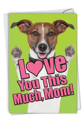 C6611FMD - Dog Love You This Much: Paper Card