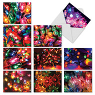 Bright Xmas Lights Holiday Greeting Cards