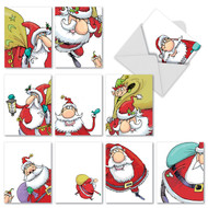 Santastic Blank or Season's Greetings Holiday Cards