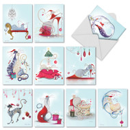 M2301 - Catitude Festive Felines: Mixed Set of 10 Cards