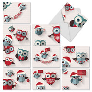 M2947 - Happy Owlidays: Mixed Set of 10 Cards