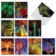 M2273 - Holiday Palms: Mixed Set of 10 Cards