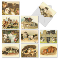 M1732 - Cutey Cats: Assorted Set of 10 Cards