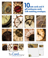 Tick. Tock. Choose your favorite clock face for these timely note cards.