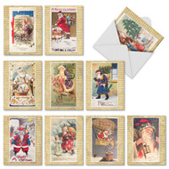 M9779XS - Holly Jolly Santa: Assorted Set of 10 Cards