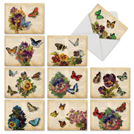 M6477TY - Fluttering Words: Mixed Set of 10 Cards