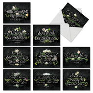 M6478SR - Chalk And Roses: Assorted Set of 10 Cards