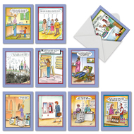 M6616BD - Tom Cheney Toons: Mixed Set of 10 Cards