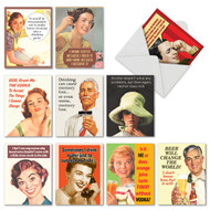 M6619BD - Retro Toasts: Assorted Set of 10 Cards