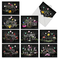 M2358NY - Chalk And Roses: Mixed Set of 10 Cards