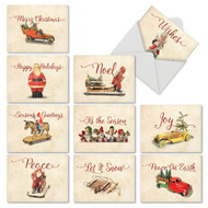 M6719XS - Christmas Antiquities: Assorted Set of 10 Cards