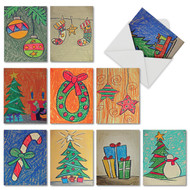 M6739XS - Christmas Coloring: Mixed Set of 10 Cards