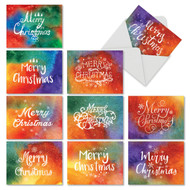 M2944XS - Holiday Watercolors: Assorted Set of 10 Cards