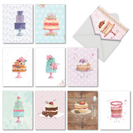 M2984BD - Watercolor Cake: Assorted Set of 10 Cards