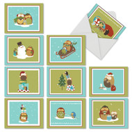 M2989XS - Holiday Hoots: Mixed Set of 10 Cards