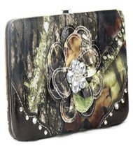 Camouflage Brown Flower Wallet