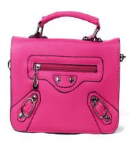 Hot Pink Flap Messenger Purse