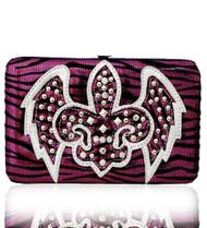 Hot Pink Western Style Fleur de Lis with Wings Wallet