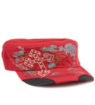 Red Fashion Cross Original Vintage Hat
