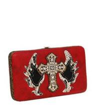 Red Western Buckle Cross Wallet